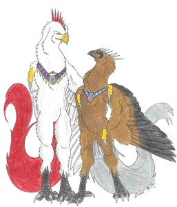 Lord King Arex'fay and General Vagan Vershandi'fay.